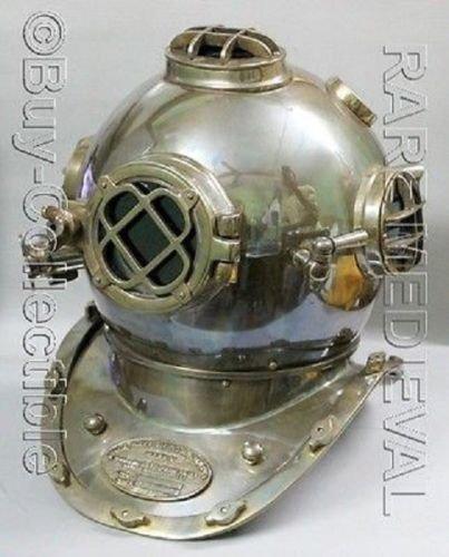 nautique US Navy Mark V vintage casque de plongée plongeurs Scuba Réplique Cadeau Home Décor nautique