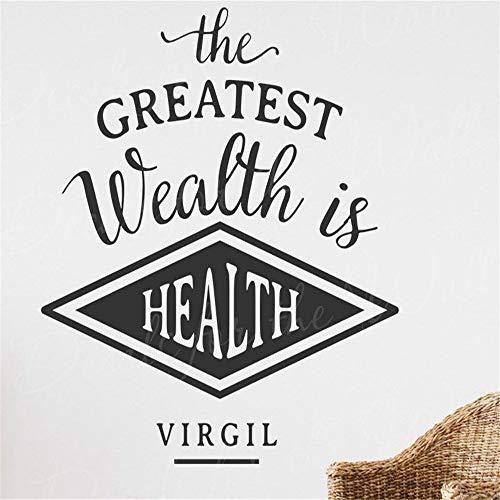 Der größte Reichtum ist das belebende Zitat aus dem Wandtattoo für gesundes Virgilweiß 58cm X58cm