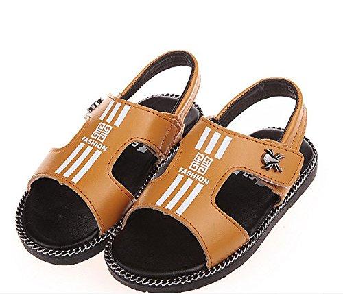 Ohmais Enfants Garçons Chaussure sandale premier pas Escarpin Jaune