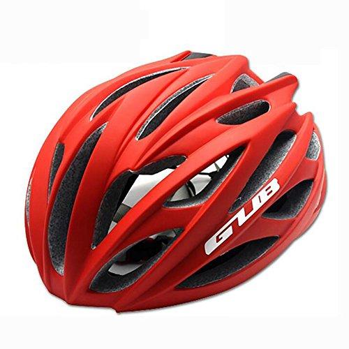 MIAO Fahrradhelm - Outdoor Männliche und weibliche Road / Mountain Bike Fahrradhelme mit Skelett , matte red