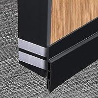 """MAGZO Under Door Draft Blocker Door Seal, Unique Hook&Loop Design Door Strip and Adjustable Under Door Seal Sweeps Insulation Strip Black Door Weather Stripping for Reduce Noise Draft 2-1/4""""W X 39""""L"""