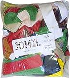 Mixed Bag of Felt Fabric Offcuts Assorted Colours - per pack