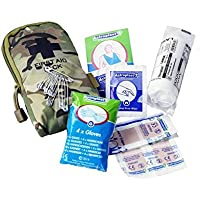 Military Forces Tactical First Aid Kit BTP Camouflage - Military Personnel Cadets D of E Expedition Camping Hiking Trekking