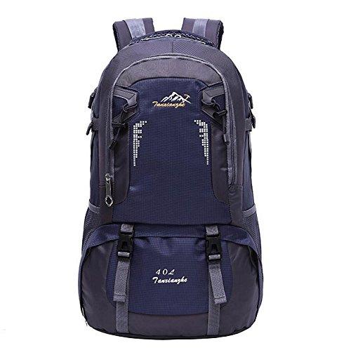LINGE-Outdoor-Bergsteigen Tasche wasserdicht Freizeit Umhängetaschen für Männer und Frauen 40L old blue