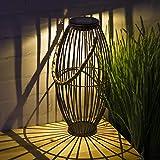 TERESA'S COLLECTIONSLanterna Solare Giardino 35cm Lanterna Solare Esterno in Metallo LEDDecorazioni da Giardino Impermeabile con Luce Bianco Caldo Lampada Solare Decorativa per Patio Feste