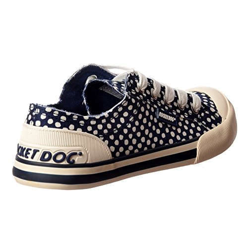 Jazzin Tela Piatto Pizzo Rocket Dog Donna Sneakers Scarpe Ponte Marina Macchia Me