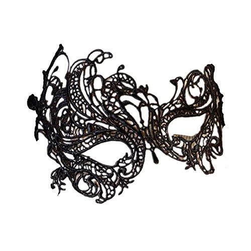 Spitze Augenmaske Masquerade Ball-Halloween-Party-Fantasie-Kostüm (Arbeit-kostüme Für Halloween)