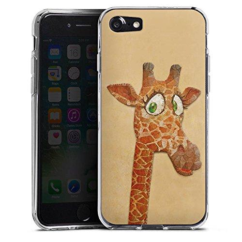 Apple iPhone X Silikon Hülle Case Schutzhülle Giraffe Wasserfarbe Muster Silikon Case transparent
