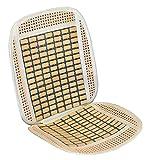 ERMA Respaldo de asiento RELAX para coche con madera de bambú. Fabricada en rafia + bambu.