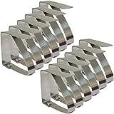 lansue Set di 8clip regolabile in acciaio INOX tovaglia tovaglia di clip morsetti per home party & picnic