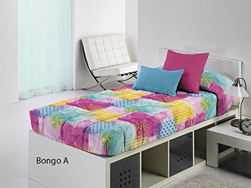 Cañete - Edredón ajustable BONGO A cama 90 - Color Fucsia