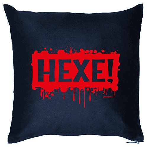 Kissen mit Halloween Motiv: Hexe! - Halloween Deko für das Wohnzimmer - Couch - Sofa - (Kostüme Billig Hexe)