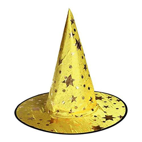 THEE Damen Herren Hexen Hut Mütze Halloween Karneval Fasching Fastnacht Kostüm Zubehör Erwachsene
