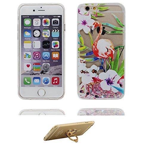 """iPhone 6 Plus Coque, Bling Glitter iPhone 6s Plus étui Cover (5.5""""), Fluide Liquide Sparkles Sables-(Fille noire Umbrella), iPhone 6 Plus Case (5.5""""), Shell anti- chocs et ring Support # 2"""