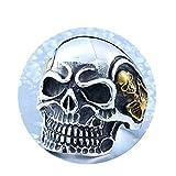 Beydodo Titanring Herren Schädel Totenkopf Punk Ring Silber Gold Freundschaftsring Größe 57 (18.1)