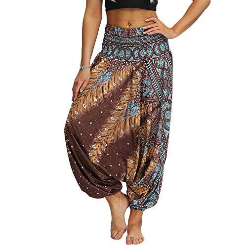 Nuofengkudu Damen Pumphose Aladin Haremshose Hippie Muster