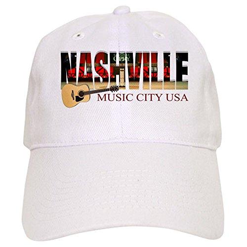 CafePress Nashville Music City USA Baseball - Baseball Cap With Adjustable Closure, Unique Printed Baseball Hat
