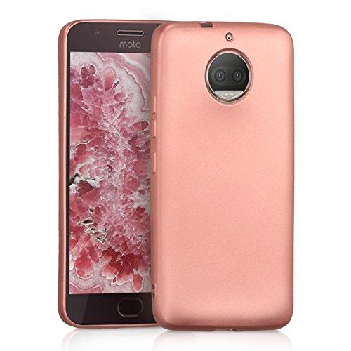 kwmobile Motorola Moto G5S Plus Hülle - Handyhülle für Motorola Moto G5S Plus - Handy Case in Metallic Rosegold