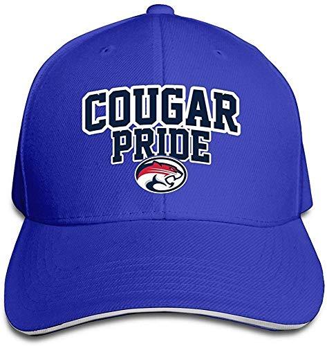 Huseki University of Houston UH Houston Cougars Logo Flex Baseball Cap Black Royalblue Houston Cougars Hat