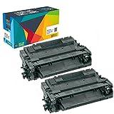 2 Do it Wiser Toner Kompatibel CE255A für HP 55A   HP P3015 3015 P3010 3010 P3011 3011 P3016 3016   HP Laserjet Enterprise 500 MFP M251 M521 M525   Canon i-SENSYS LBP 6750 6780