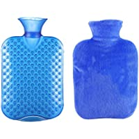 Klassische transparente Gummiwasserflasche 1 Liter mit Abdeckung für Schmerz-Kältetherapie #27 preisvergleich bei billige-tabletten.eu
