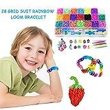 Fai da Te Kit Bracciale Arcobaleno in Gomma Gomma Telaio Kit Amicizia Kit per Bambini per educativi e Sviluppo intellettuale Giocattoli per Bambini