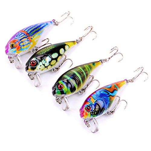 Aorace 4pcs/lot 5.5cm/9g Luminaires de peinture colorés Crank Bait Wobblers Crankbait Tombage de pêche Plastic Hard Lure Baits