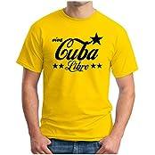 OM3 - VIVA CUBA LIBRE - T-Shirt Viva la REVOLUCION RON RUM LIME CARIBE PACE PEACE EMO SWAG, S - 5XL