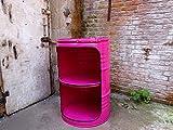 Fassmöbel Fass Design Regal Ölfass Möbel 210 Liter Volumen Farbe Pink / Beleuchtung mit 2 Lampenfassungen