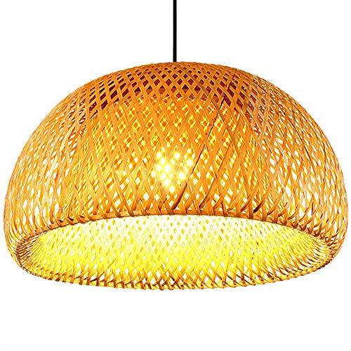 ambus Weben Bambus Nest Nest antike Pendelleuchte E27 Lampen Laternen Zimmer-Hotel Restaurant Gang Lampe leben, warmes Weiß, DIA-30CM ()