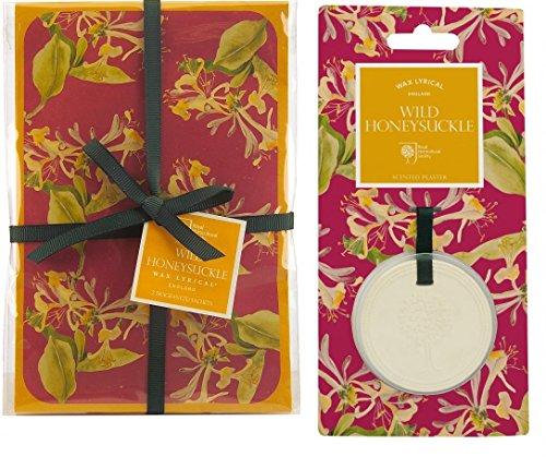 3Stück Wild Honeysuckle, 1Duft Plaque Anhänger und 1Set von 2Duftsäckchen, Wax Lyrical Royal Horticultural Society (Honeysuckle-home-duft)