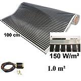 Calorique - Calefactor por infrarrojos, pantalla eléctrica de suelo radiante, 100 cm, 150 W/m² de suelo radiante, 0,5 a 20,0 m², 230.00 voltsV