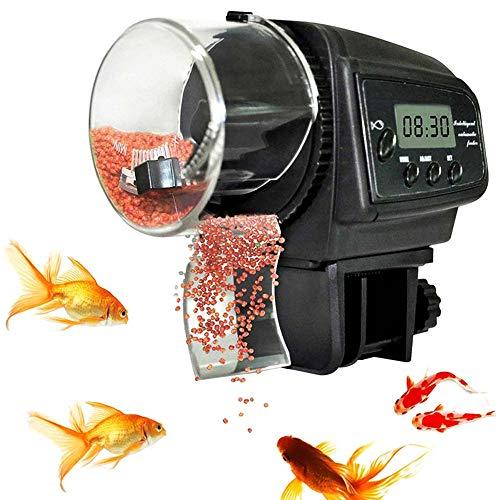 CG LCD Automatische Mini-Fisch-Zufuhr, Aquarium Lebensmittel Fütterung Urlaub Wochenende Fisch Schildkrötenfutter Flocken Spender für Aquarium & Fish Tank -