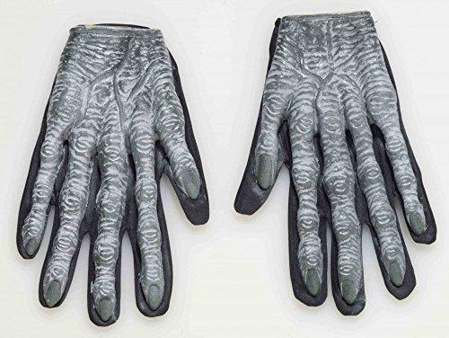 Gorilla Hand Kostüm - shoperama 3D Zombie Handschuhe für Erwachsene Gorilla Hände Finger