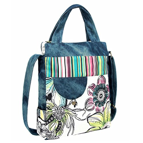 Chang Speso Donna Casual Denim Piazza Borsa A Tracolla In Tela Blu Messenger