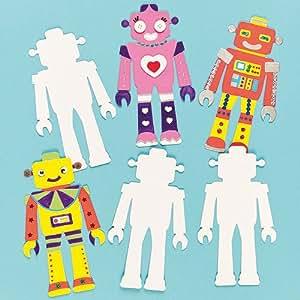 Formes Robot en carton - Lot de 10
