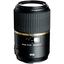 Tamron F004E SP AF 90 mm F/2.8 - Objetivo para Canon (distancia focal fija 90mm, apertura f/2.8-2,8, estabilizador óptico, macro, diámetro: 58mm) color negro