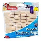 Kingfisher Wäscheklammern aus Holz, Braun, 30Stück