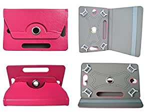 TOTTA Rotator Tab Book Cover For iBall Slide 3G 7345Q 800- PINK