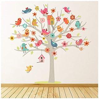 azutura Cute Birds Tree Nursery Wall Sticker available in 8 Sizes Medium Digital