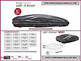 Proposteonline portabagagli Box Tetto Auto 146 x 86 x 37 cm per Fiat Freemont 2011  con Barre Portapacchi portatutto sy31zm