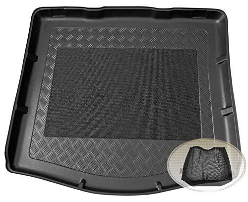 ZentimeX Z3036068 Antirutsch Kofferraumwanne fahrzeugspezifisch + Klett-Organizer (Laderaumwanne, Kofferraummatte)