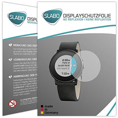 2 x Slabo Bildschirmschutzfolie Pebble Time Ro& Bildschirmschutz Schutzfolie Folie