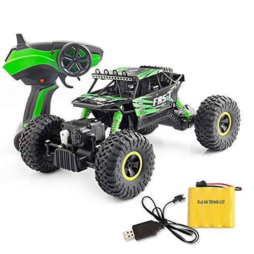 Qiulv 1:18 fuori strada veicolo camion 4wd mostro 2.4ghz radio controlled veicolo contorto crawler auto velocità passeggino guida gara migliore regalo per bambini & adulti,green