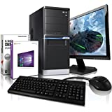 "Komplett PC-Paket Entry-Gaming / Multimedia COMPUTER mit 3 Jahren Garantie! | Quad-Core! AMD A8-6500 4 x 4100 MHz | 8192MB DDR3 | 1000GB S-ATA II HDD | AMD Radeon HD 8570D 4096 MB DVI/VGA mit DirectX11 Technology | USB3 | DVD±RW | Windows10 Professional 64-Bit | 22"" LED TFT Monitor 