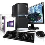 Komplett PC Multimedia A8-5545 inkl. Windows 10 Professional - AMD Quad-Core A8-5545 4x 2700 MHz, AMD Radeon HD 8510D 4096 MB HDMI/VGA mit DirectX11 Technology, USB3, 8GB RAM, 1TB HDD, 22-TFT #5254
