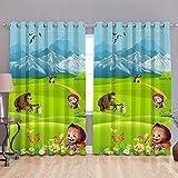 innovative Edge Digital print Kids pattern blackout curtains