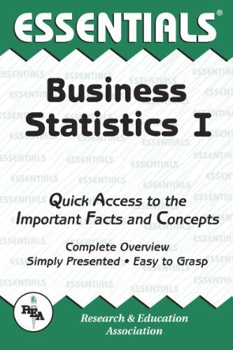 Business Statistics I Essentials (Essentials Study Guides) by Louise Clark (1998-05-03)