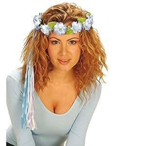 bandeau a fleurs hippie bijoux de cheveux bleu accessoire de cheveux couronne de fleurs pour. Black Bedroom Furniture Sets. Home Design Ideas