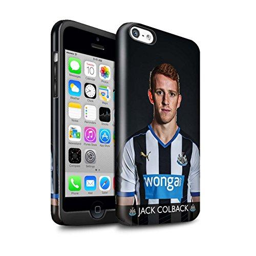 Officiel Newcastle United FC Coque / Brillant Robuste Antichoc Etui pour Apple iPhone 5C / Pack 25pcs Design / NUFC Joueur Football 15/16 Collection Colback